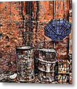 Rain In Marrakesh Metal Print by Chuck Kuhn