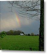 Rainbow After The Rain Metal Print