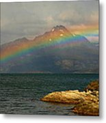 Rainbow At The End Of The World  Metal Print