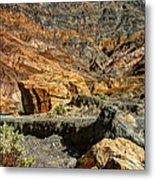 Rainbow Canyon Death Valley Metal Print