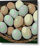 Rainbow Eggs Metal Print