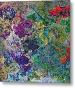 Rainbow Fish Watercolor Abstract Art Metal Print