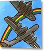 Rainbow Flight Metal Print