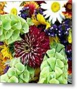 Rainbow Floral Display Metal Print