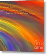 Rainbow Haiku Metal Print