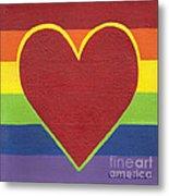 Rainbow Love Metal Print by Kristi L Randall