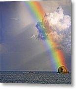 Rainbow On Birdrock- St Lucia. Metal Print