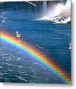 Rainbow On Niagara Falls Metal Print