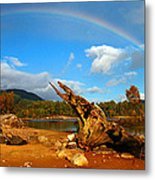 Rainbow Over Affric Metal Print