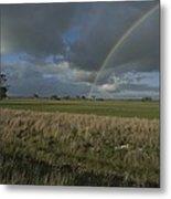 Rainbow Over Fields At Kangaroo Island Metal Print