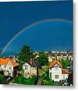 Rainbow Over Housing, Monkstown, Co Metal Print