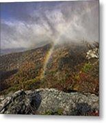 Rainbow Over Rough Ridge - Nc Autumn Scene Metal Print