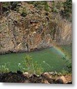Rainbow Over The Creek Metal Print