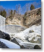 Rainbow Over The Webster's Fallslls Metal Print by Luba Citrin