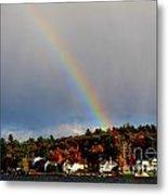 Rainbow Over Winnepesaukee Metal Print