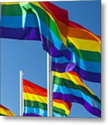Rainbow Pride Flags Metal Print