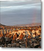 Rainbow Rain Clouds Sunshine Metal Print
