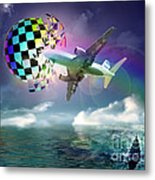 Rainbow Set Free Metal Print