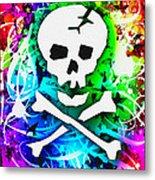Rainbow Skull 3 Of 6 Metal Print