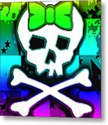 Rainbow Skull 4 Of 6 Metal Print