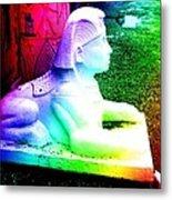 Rainbow Sphinx Metal Print