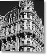 Rainbows And Architecture In Black And White Metal Print