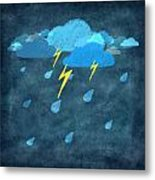 Rainy Day With Storm And Thunder Metal Print