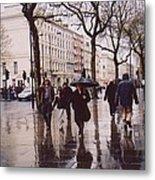 Rainy Sunday On Cromwell Road In London England Metal Print