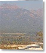 Ramganga River Flowing Through Corbett National Park Metal Print