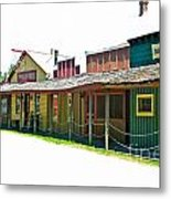 Ranch Buildings - White Metal Print