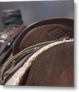 Ranch Saddle Metal Print