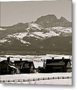 Ranch With A View Metal Print