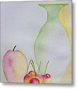 Ranier Cherries And A Pink Lady Metal Print