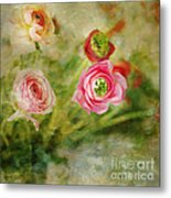 Ranunculus Painterly Metal Print