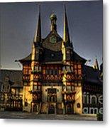 Rathaus At Wernigerode Metal Print