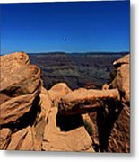 Raven Flying Near Ooh Aah Point Metal Print