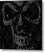 Raven Skull Metal Print