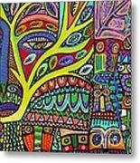 Raven Spirit Tree Totem Goddess Metal Print