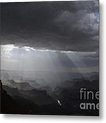 Rays In The Canyon Metal Print