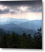 Rays Of Light Over The Great Smoky Mountains Metal Print