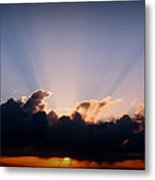 Rays Of Light Through The Storm Metal Print