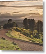 Rays Of Sunlight Over Clent Countryside Metal Print
