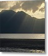 Rays Of Sunlight Through Clouds Metal Print