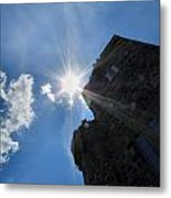 Rays On The Castle Metal Print