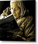 Reading Is Lifetime Passion Metal Print