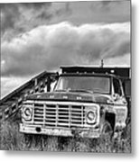 Ready For The Harvest Bw Metal Print