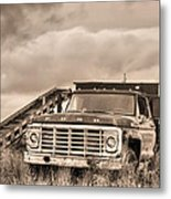 Ready For The Harvest Sepia Metal Print