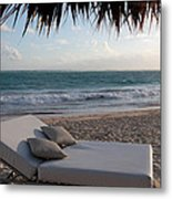 Ready To Relax On A Tropical Beach Metal Print by Karen Lee Ensley