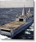 Rear View Of Uss Green Bay Metal Print