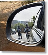 Rear View Riders Metal Print